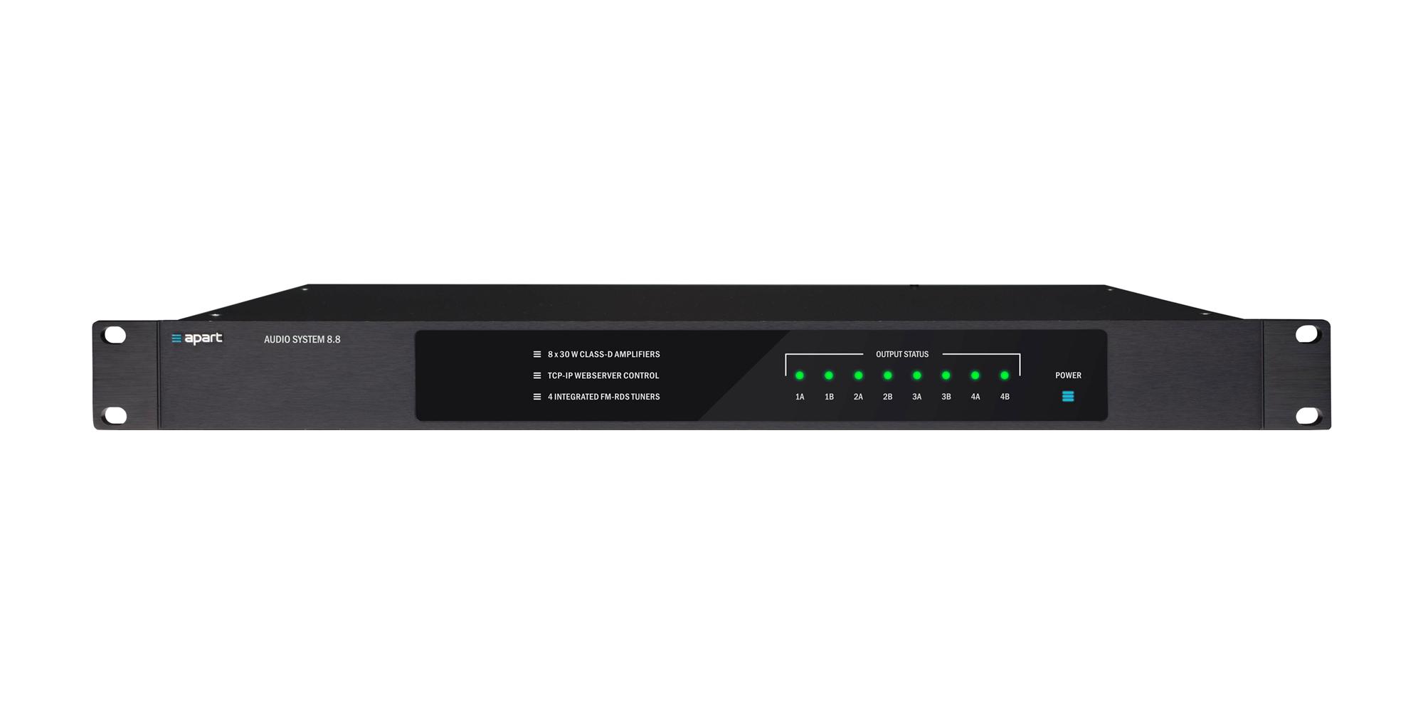 AUDIOSYSTEM8.8 audio matrix 4 FM tuners