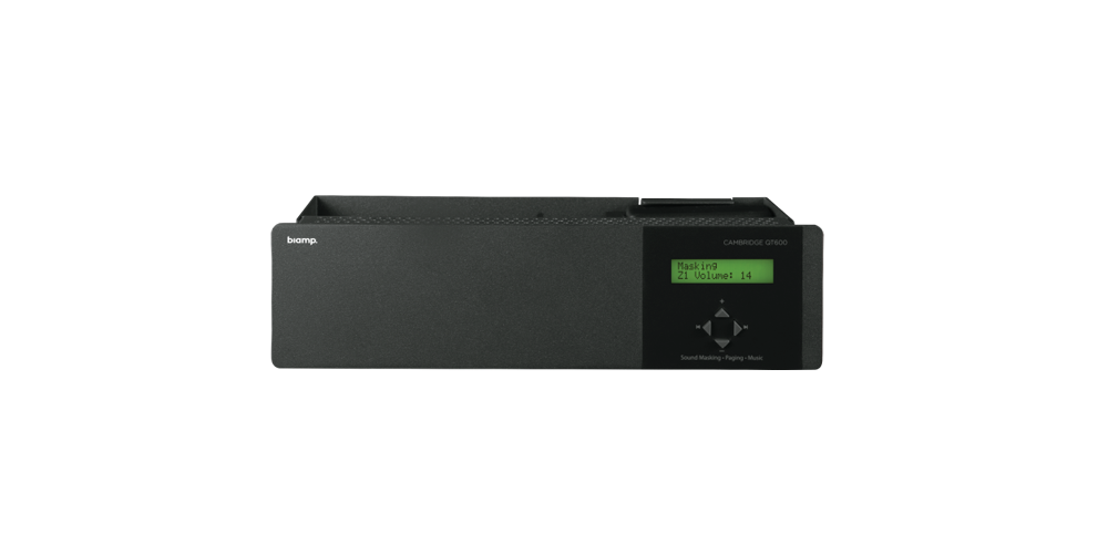 Qt® 600 6 zone sound masking generator, controller and amplifier for QtPro systems