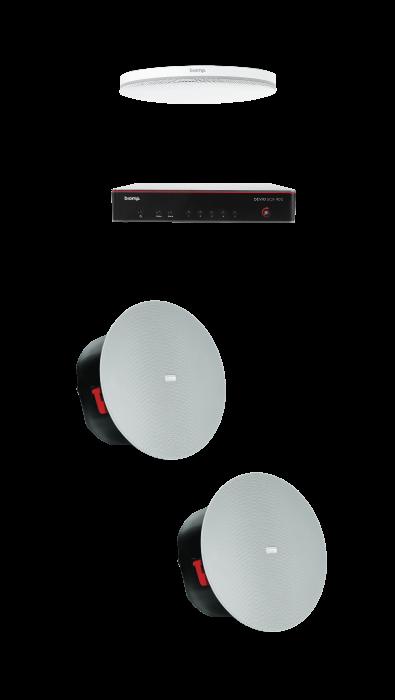 Biamp MRB-M-SCX400-C Medium meeting room bundle with Devio SCX 400 and white ceiling microphone