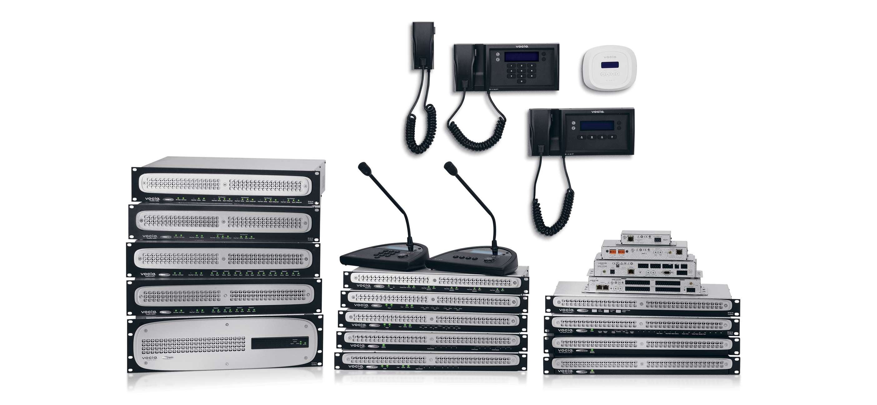 Vocia Networked Public Address and Voice Evacuation Systems