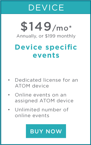 Device specific event license