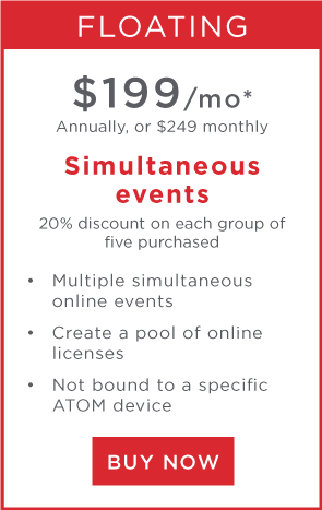 Multiple simultaneous online events license